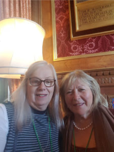 Trans News :Jo Coker and Kirstie McEwan at the Speakers House, Houses of Parliament